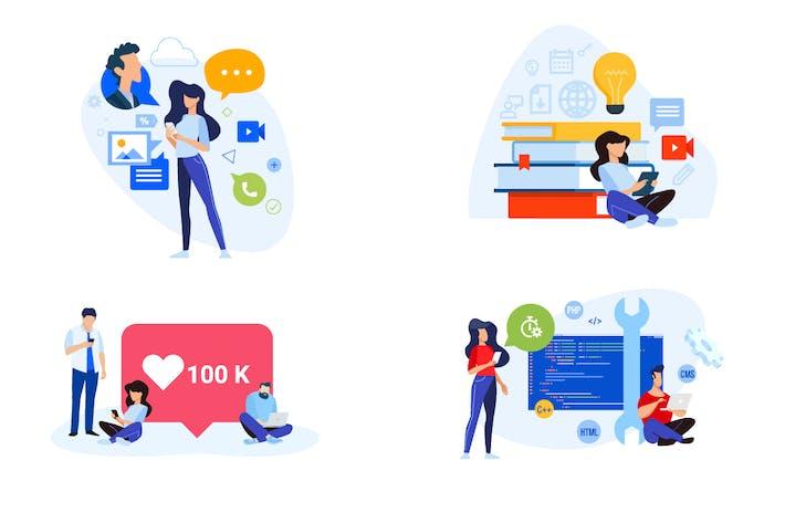 Thumbnail for Concepts de conception plate de réseautage et d'éducation