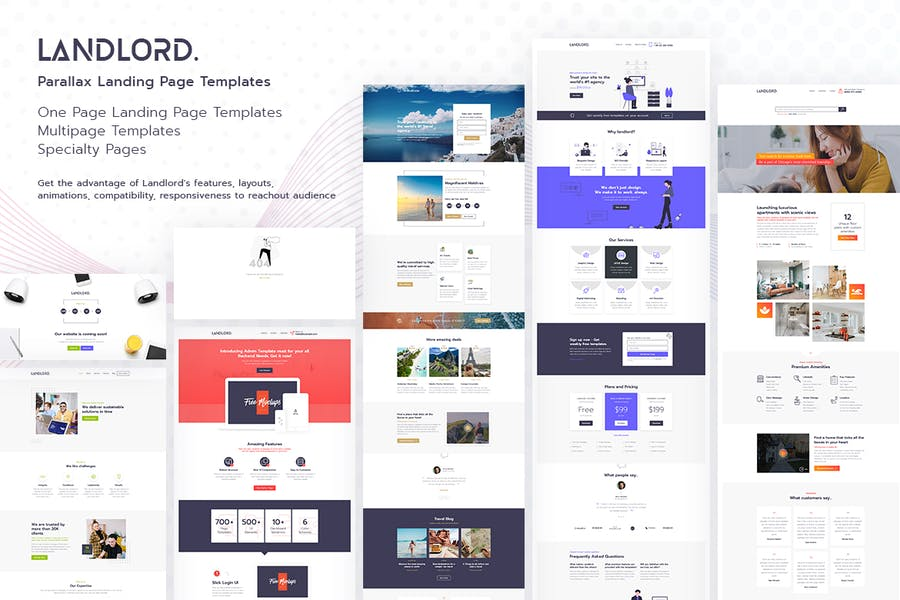 Landlord - Landing Page Templates