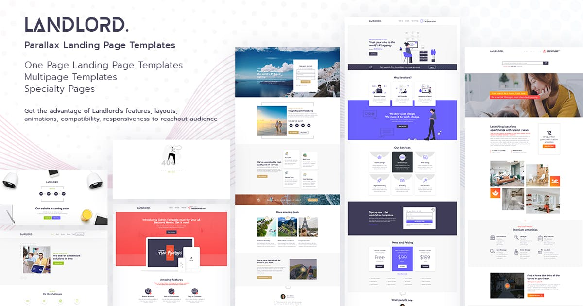 Download Landlord - Landing Page Templates by tansh