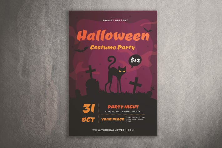 Cover Image For Halloween Costume Party Flyer