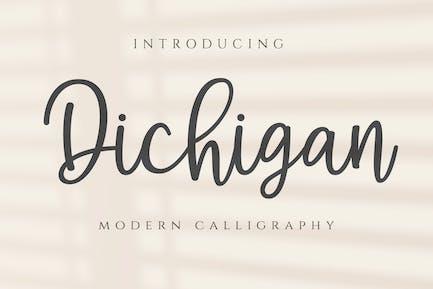 Dichigan - Modern Calligraphy Script