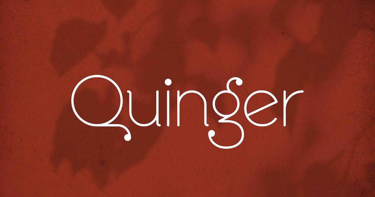 Download Quinger - Unique Sans Display by Alterzone