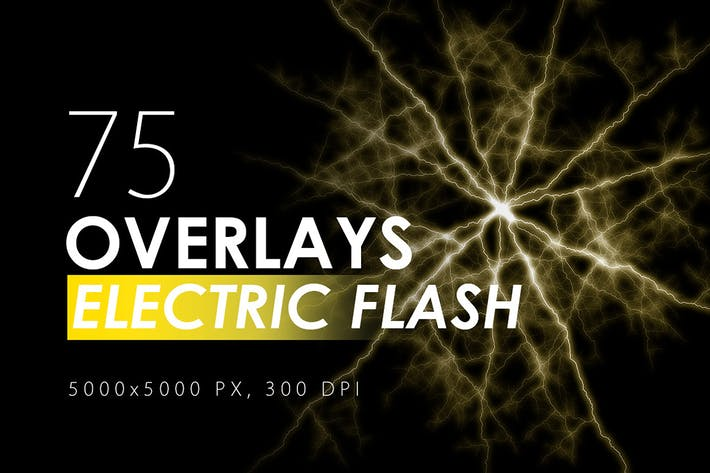 Thumbnail for 75 Electric Flash Overlays