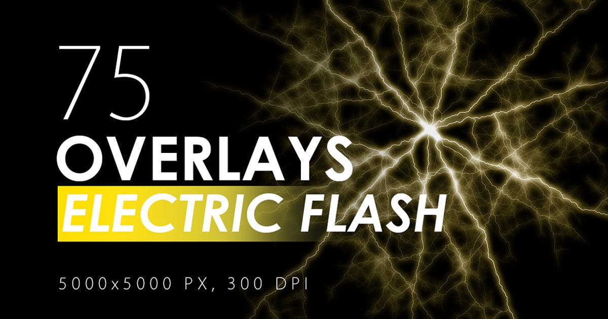 Download 75 Electric Flash Overlays by M-e-f