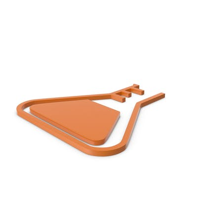 Flask Orange Icon