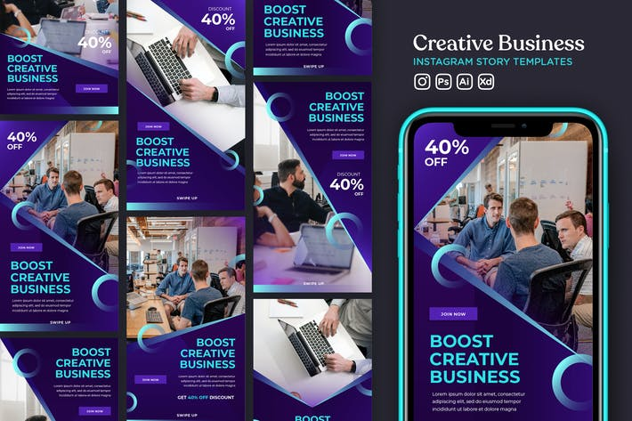 Thumbnail for Instagram Story Template Vol.26 Creative Business
