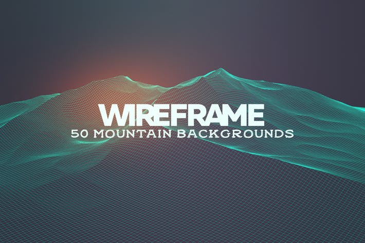 Thumbnail for 50 Mountain Wireframe Backgrounds