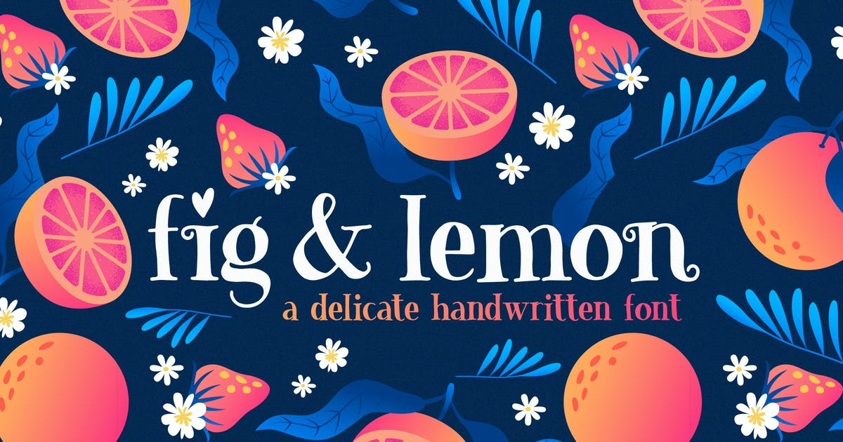 Download Fig & Lemon Font Duo by maroonbaboon