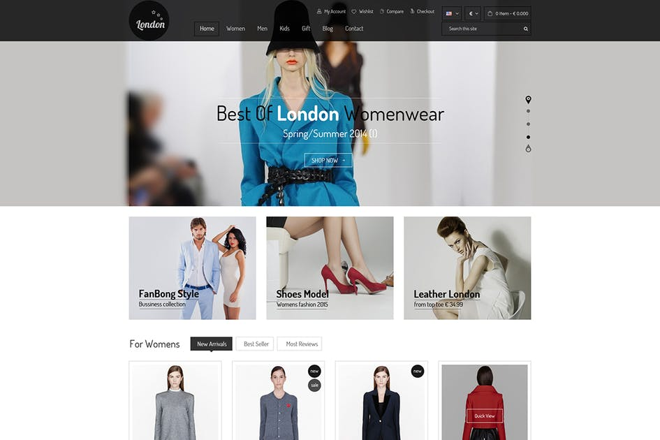 Download London Online Shop - Responsive Magento Theme by 7uptheme