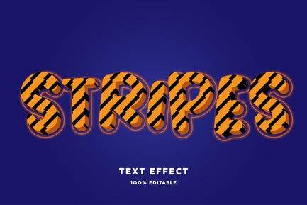 Stripes text style effect