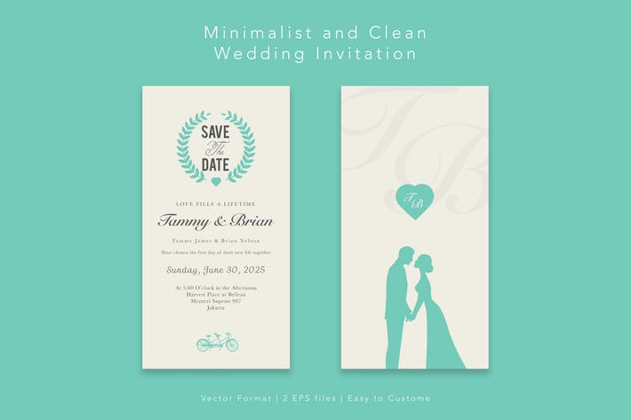 Thumbnail for Minimalist Wedding Invitation