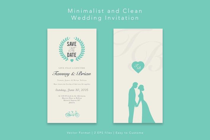 Thumbnail for Minimalistische Hochzeitseinladung