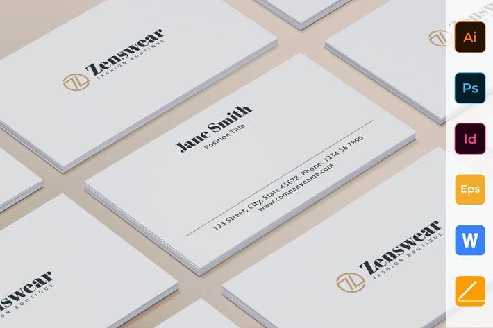 Cover Image For Boutique Business Card
