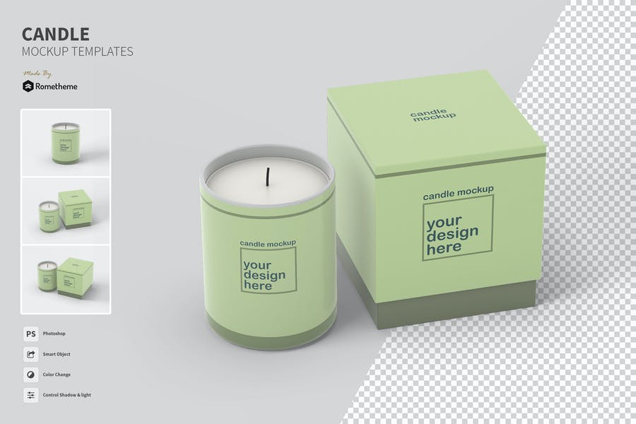 Candle - Mockups Template FH