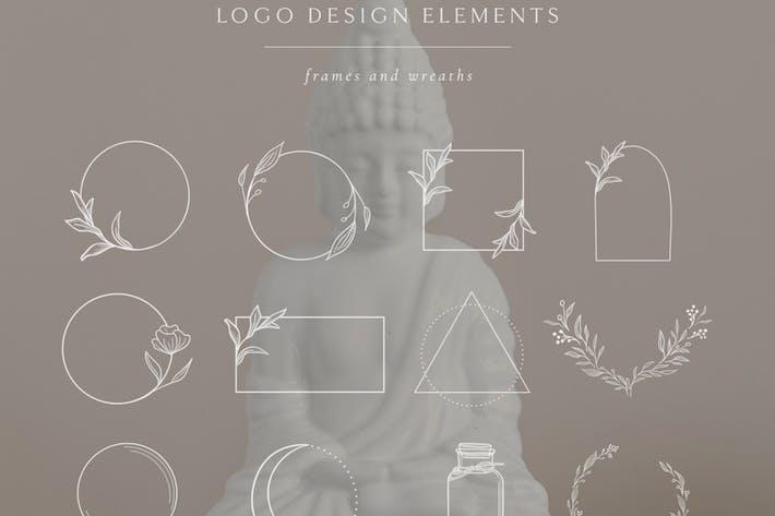Thumbnail for Éléments décoratifs blancs, cadres et bordures.