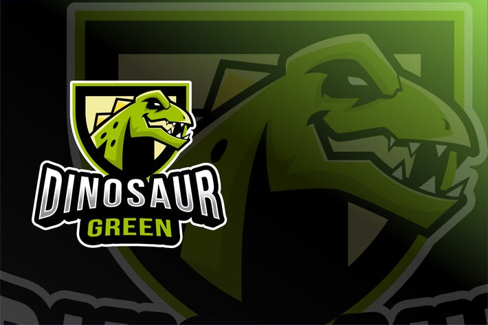 Thumbnail for Dinosaur Green Esport Logo Template
