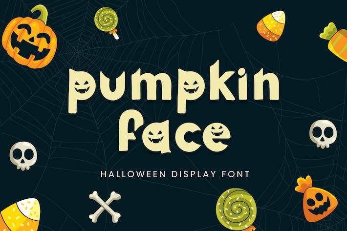 Thumbnail for Pumpkin Face - Halloween Font