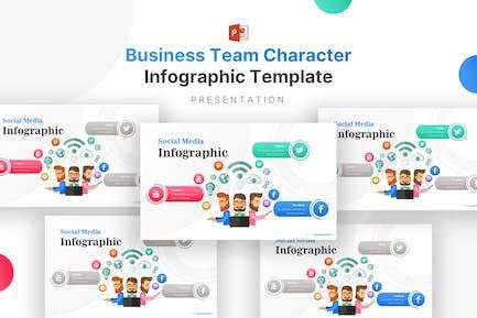 Шаблон инфографики персонажа бизнес-команды