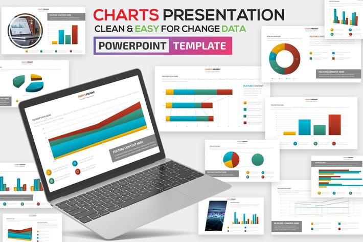 Thumbnail for Charts Powerpoint Template