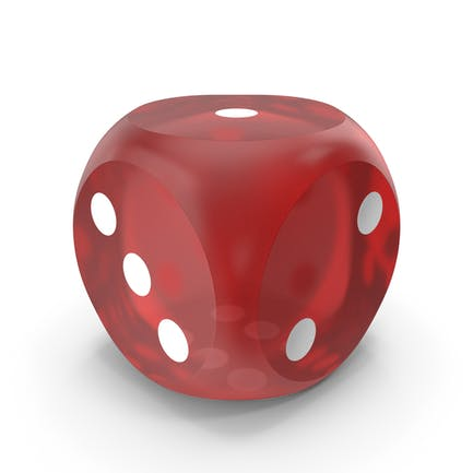 Red Dice Rounded Transparent