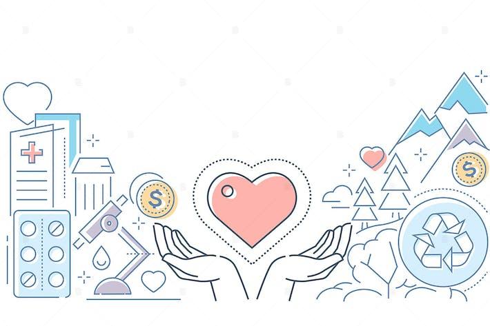 Thumbnail for Charity - modern line design style illustration