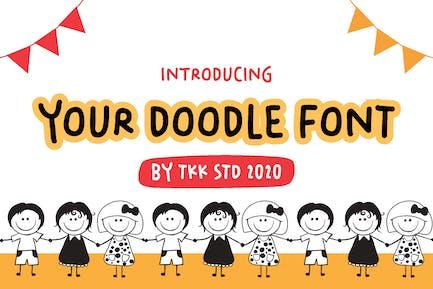 Your Doodle Font - Cute Kids Handwriting Font