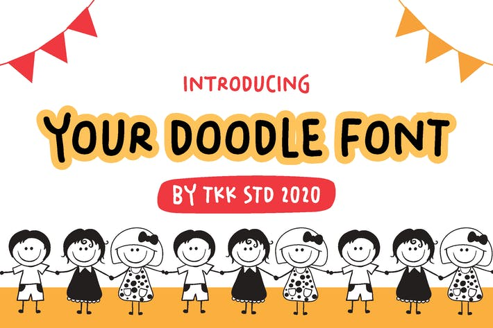 Your Doodle Font - Cute Kids Handwriting Font