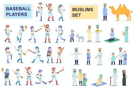 Baseballs and Muslims Flat People Characters