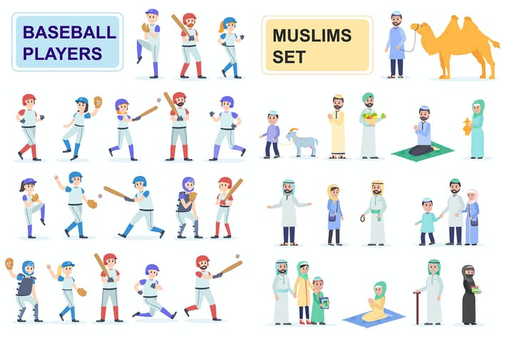 Thumbnail for Baseballs and Muslims Flat People Characters