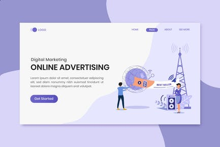 Advertising and Promotion Marketing Landing Page