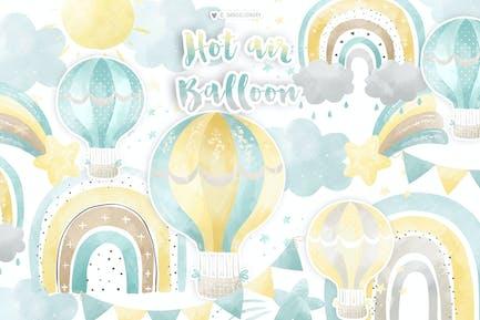 Heißluftballon Rainbow