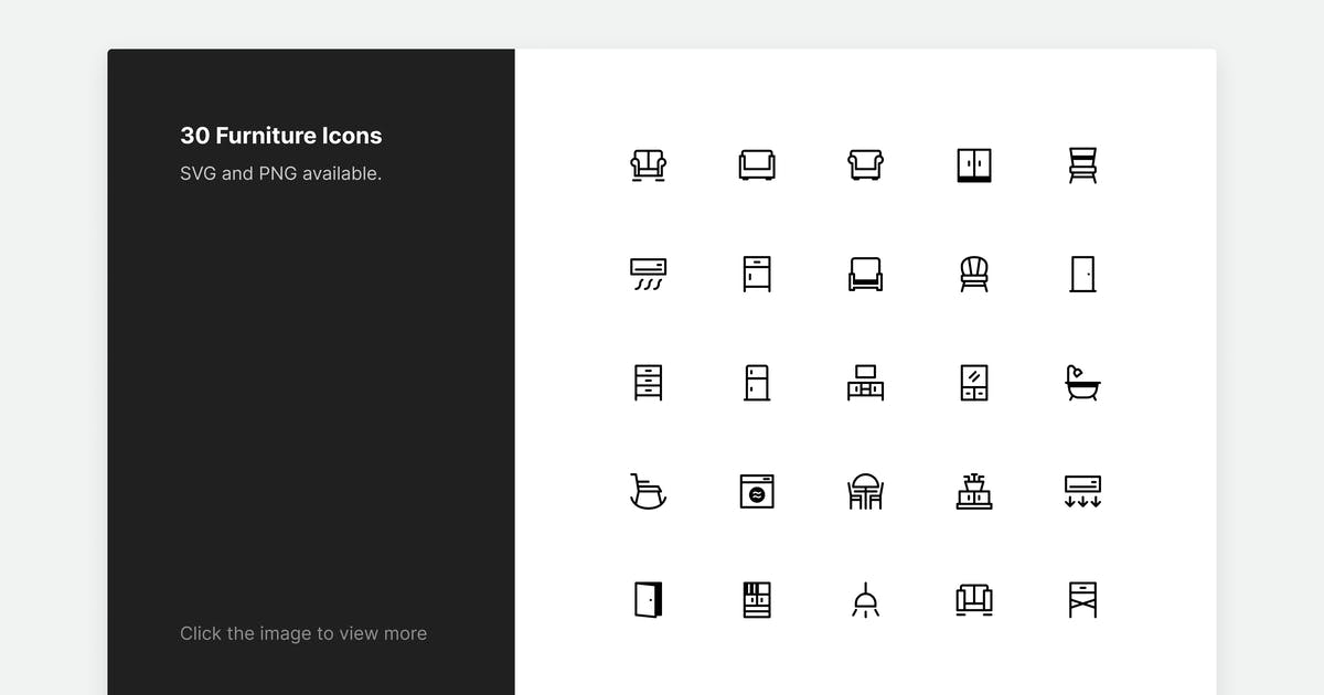 Download Furniture Icons - Line style by roywj