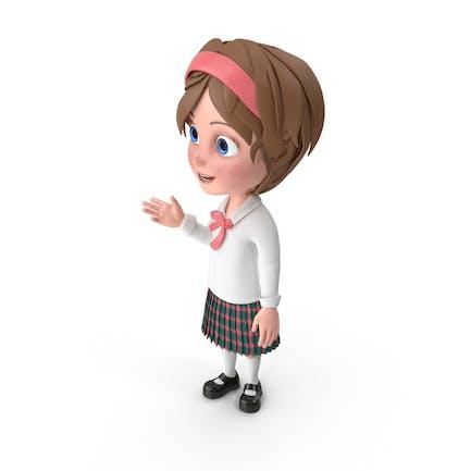 Cartoon Mädchen im Gespräch