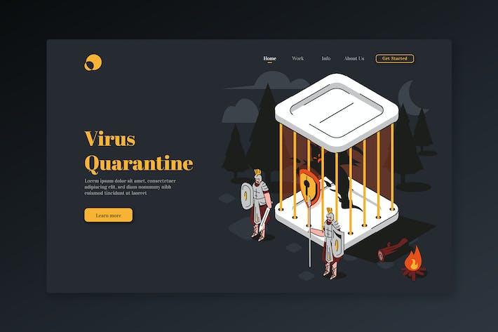 Thumbnail for Virus Quarantine - Isometric Landing Page