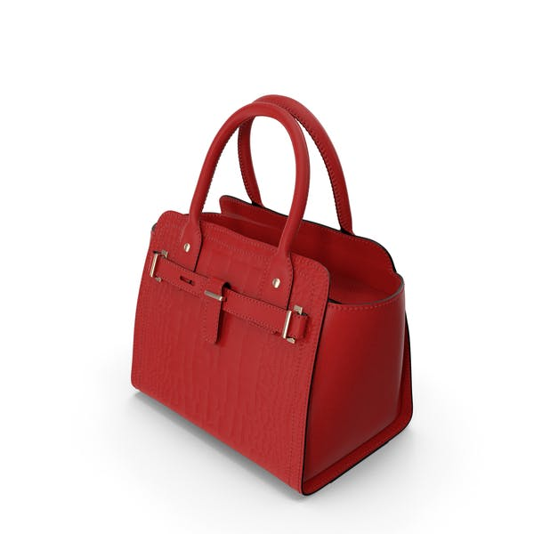 Alligator Women Handbag Red