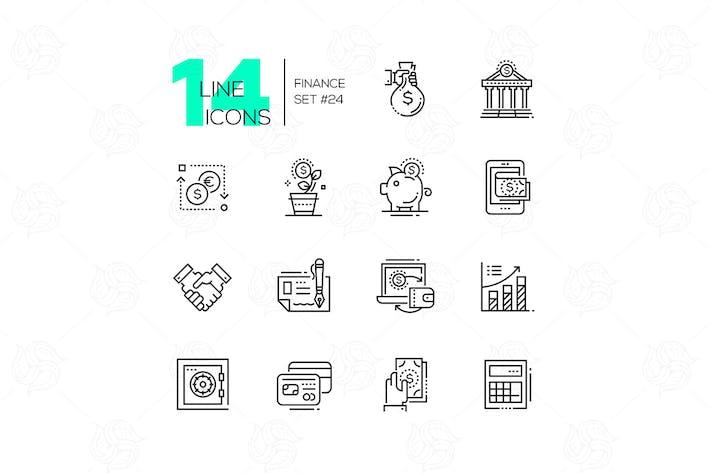 Thumbnail for Finance - modern single line icons set