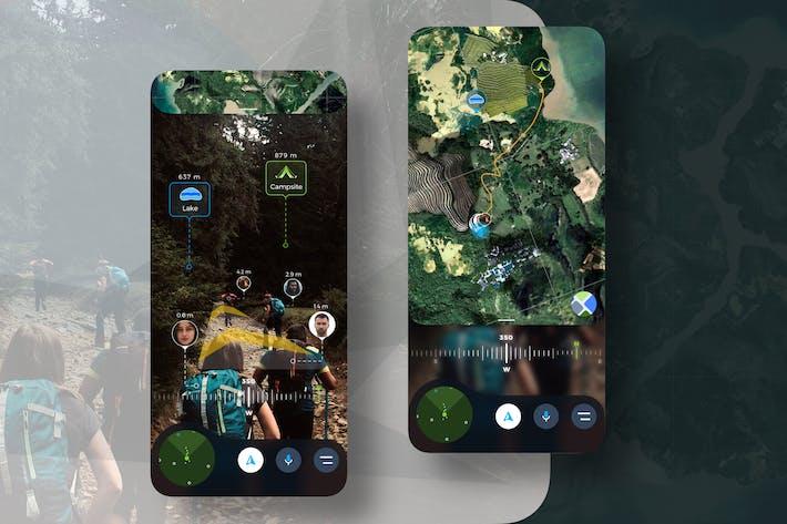 Thumbnail for AR Travel Hiking Mobile UI - TH