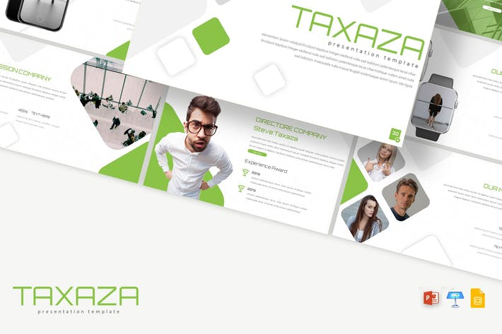 Thumbnail for Taxaza - Powerpoint / Google Slides / Keynote