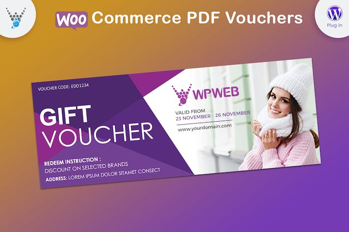 Cover Image For WooCommerce PDF Vouchers - WordPress Plugin