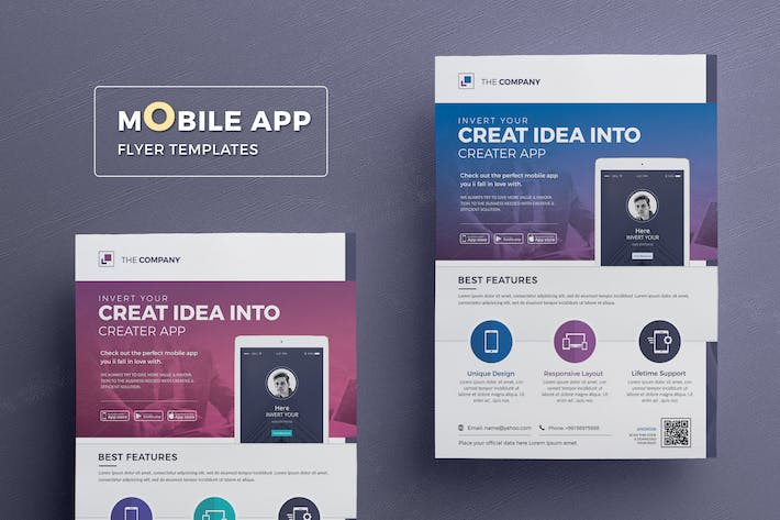 mobile app flyer template by designsoul14 on envato elements