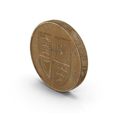 British Pound Coin Aged