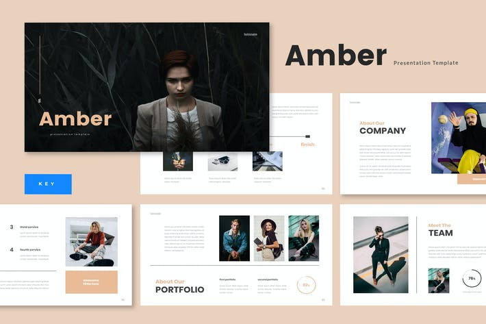 Thumbnail for Amber - Business Keynote Template