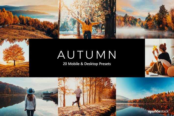 Thumbnail for 20 Autumn Lightroom Presets & LUTs