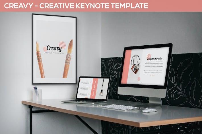 Thumbnail for Creavy - Creative Keynote Template