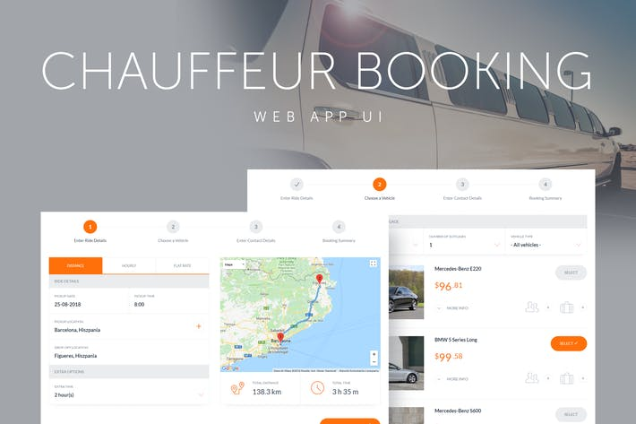 Thumbnail for Chauffeur Booking System Web App UI