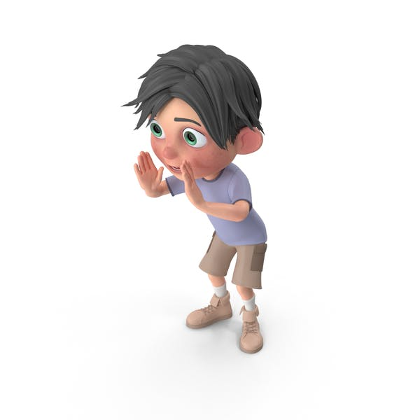 Cartoon Boy Jack Cheering