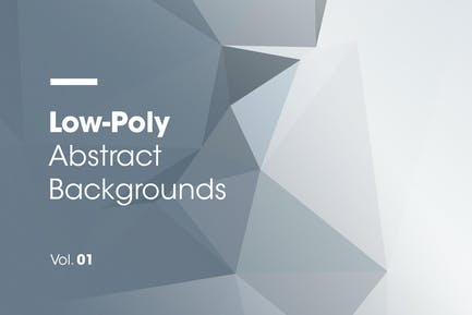 Low-Poly   Abstract Backgrounds   Vol. 01
