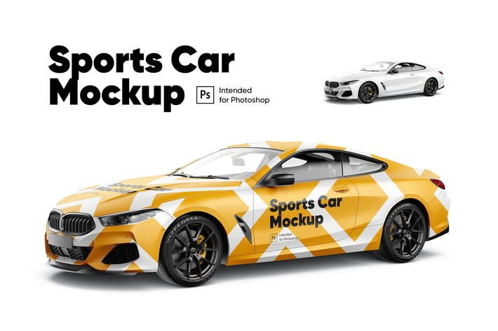 Thumbnail for Sports Car Mockup
