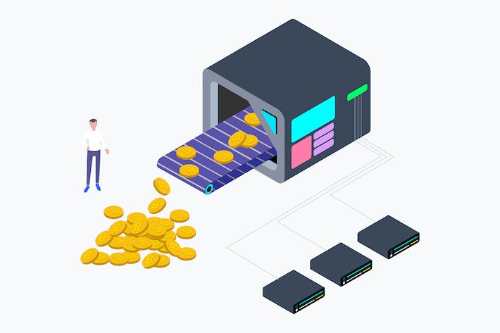 Thumbnail for Cryptocurrency Mining Factory Isometric