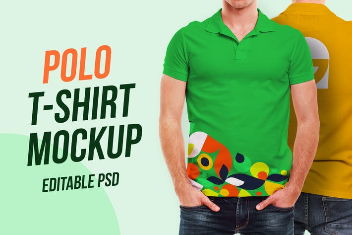 Thumbnail for Polo T-Shirt Mockup